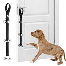 Pet Doorbells With 6 Bells Lanyard Dog Training Bells Adjustable Dog Cat Housebreaking Clicker Door Bell Training Tool Supplies