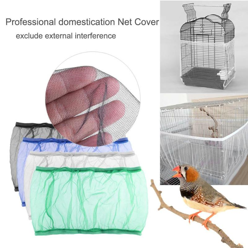 Soft Easy Cleaning Mesh Cloth Airy Fabric Bird Cage Cover Shell Parrot Starling Catcher Guard Bird Supplies
