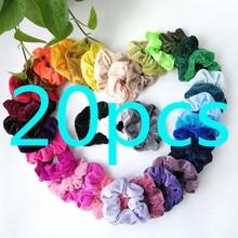 20/15/9PCS Velvet Scrunchie Women Girls Elastic Hair Rubber Bands Acces