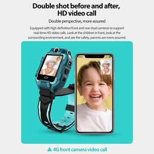 Image 5 - ساعة يد ذكية للأطفال موديل 696 بشريحة 4G LTE مزودة بنظام تحديد المواقع وكاميرات مزدوجة للاتصال بالفيديو IP68 مقاومة للمياه لصبي الأطفال والبنات ساعة ذكية طراز Y99 Z6