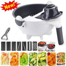 Dropshipping Rotate Vegetable Cutter Manual Slicer Drainer Fruit Mandoline Choppers Grater Carrot Potato Blades