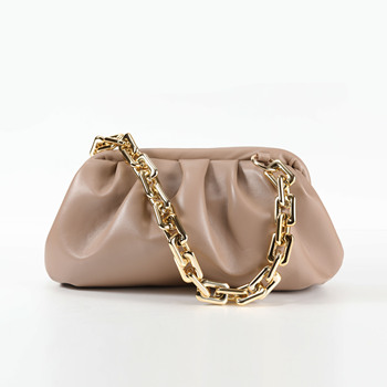 Thick Chain Design PU Leather Crossbody Bags For Women Small Handbags and Purses Female Shoulder Messenger Bag casual woman bag small leather crossbody bag 2020 design women pu leather handbags tote shoulder bags messenger bolso mujer