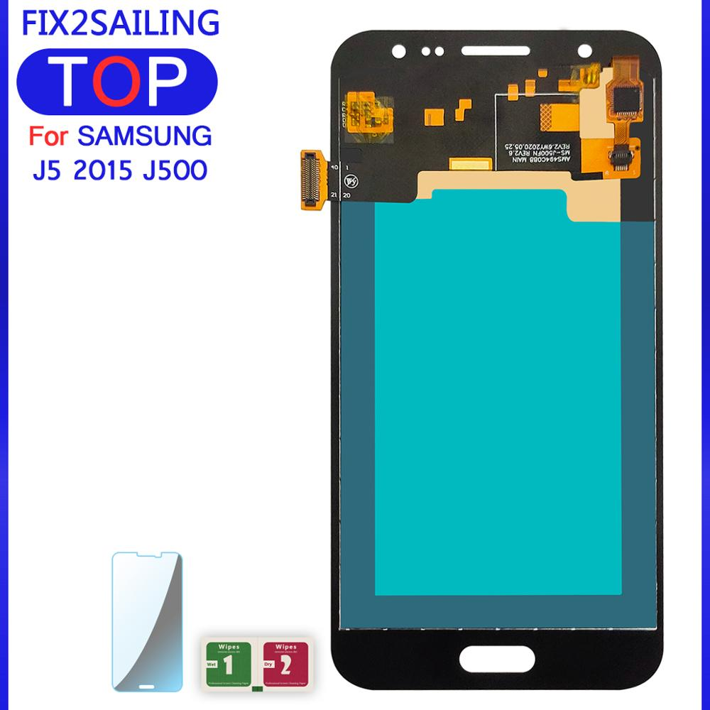 100% Tested 5.0'' Super AMOLED LCD For SAMSUNG GALAXY J5 2015 J500 LCD Display J500F J500M Touch Screen Digitizer With Tools