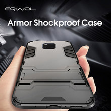 Eqvvol Armor Shockproof Holder Case For Huawei P30 Pro Mate 20 Lite P20 Full Cover For Honor 20 Pro 8X MAX 8 9 10 Lite 9X Coque(China)