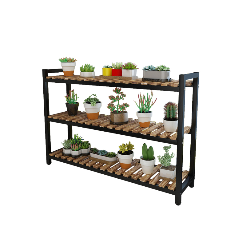 Wood Multi-storey Balcony A Living Room Indoor Flowerpot Botany The Window Is Full Of Meat Shelves To Ground Province Space