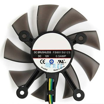 75MM FD8015U12S DC12V 0.5AMP 4PIN Cooler Fan for asus GTX 560 GTX550Ti HD7850 Graphics Video Card Cooling Fans 831D image