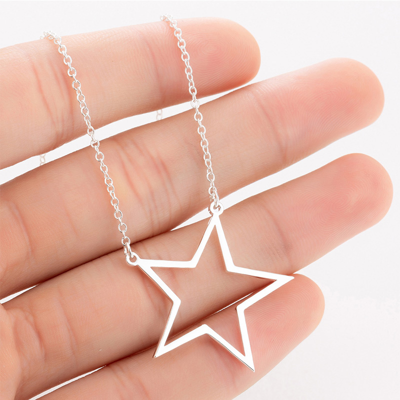 star necklaces womens cute cpendant stainless steel woman accessories fashion necklace jewelry gold chain on the neck 2019