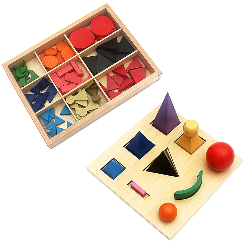 Montessori Language Toy Wood Solid Grammar Symbols Language Exercises Toys Basic Wooden Grammar Symbols With Box Preschool Train(China)