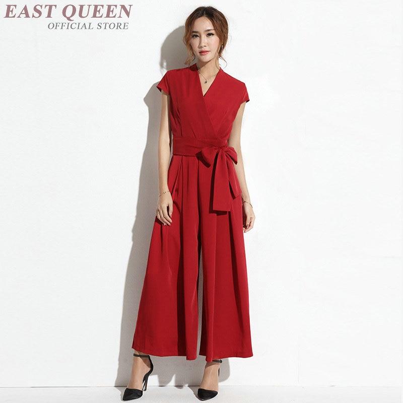 Combinaison Simple couleur unie 2019 combinaison d'été combishorts à lacets pantalon large ample combinaisons élégantes pour femmes 2019 DD2317