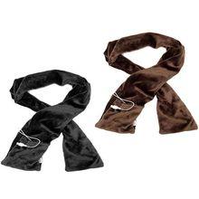 Электрический с питанием от USB зимний теплый длинный шарф с грелкой для грелки шеи мягкий шаль обертывания с карманами портативный