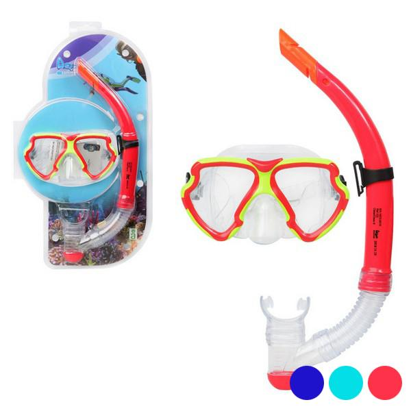 Snorkel Goggles And Tube Adults Pvc 117560
