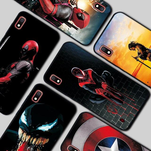 Do Samsung A50 obudowie/etui do Samsung Galaxy M40 M10 A10 A10S A20 A20S A30 A40 A50 A70 M30S TPU Spiderman Batman Marvel przypadku tylne obudowy