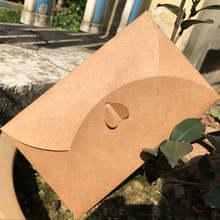 10 шт/лот винтажная крафт бумага конверт для приглашений свадебные