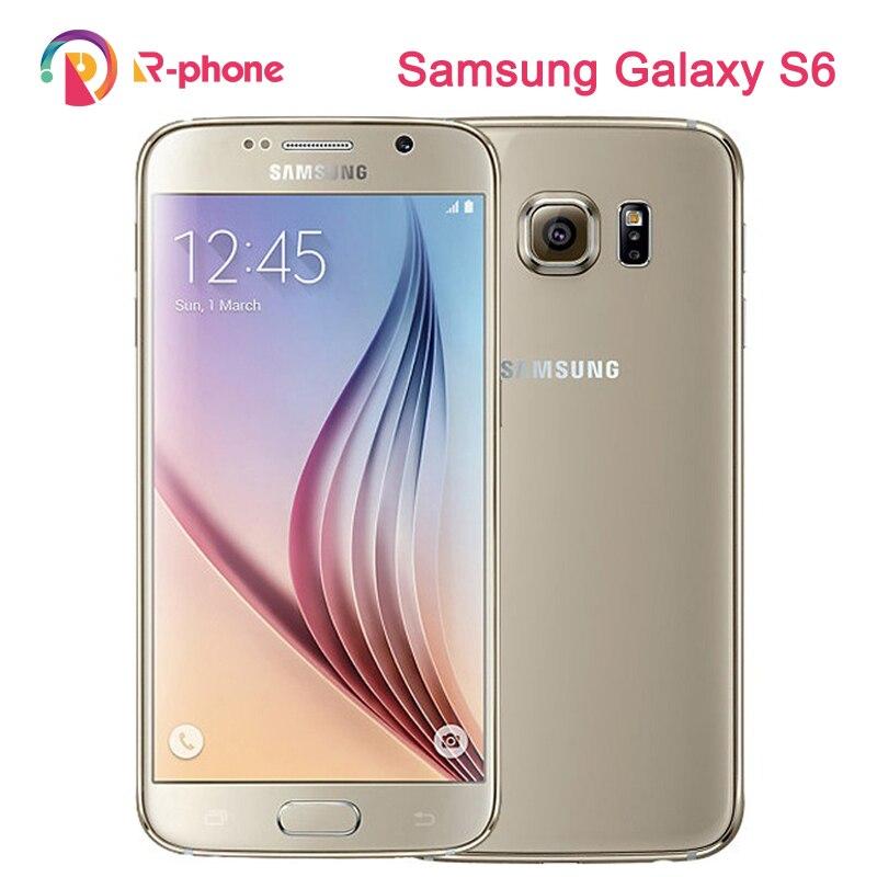 Оригинальный SAMSUNG Galaxy S6 разблокированный S6 Egde мобильный телефон отремонтированный 5,1 ''32 Гб ROM 3 Гб RAM Android телефон