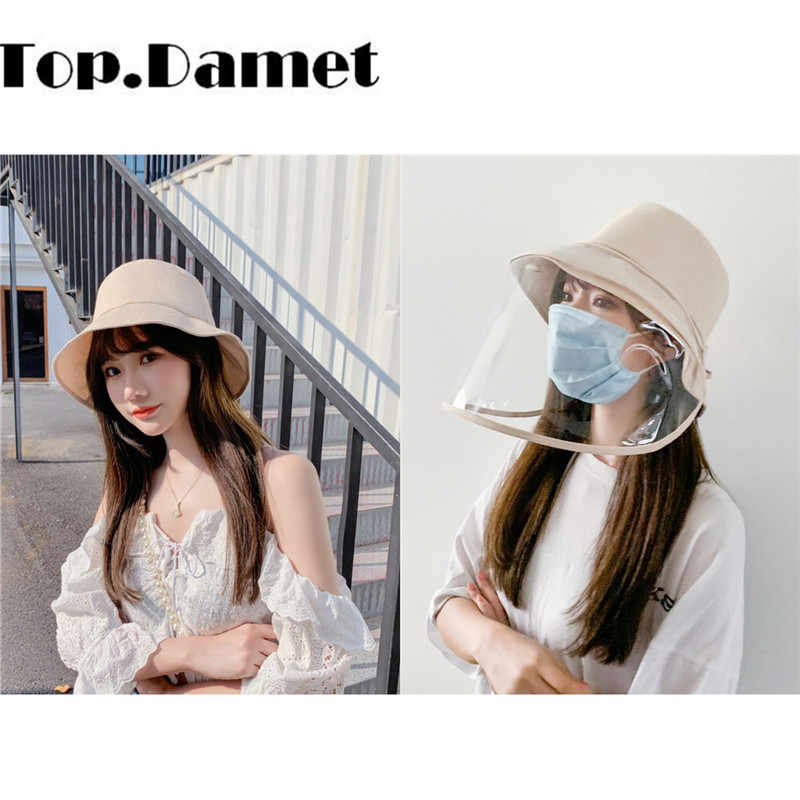 Top.Damet Fashion Outdoor Women Protective Fisherman Anti-spitting Dust Protection Bucket Hat Female Anti-fog UV ProtectCaps