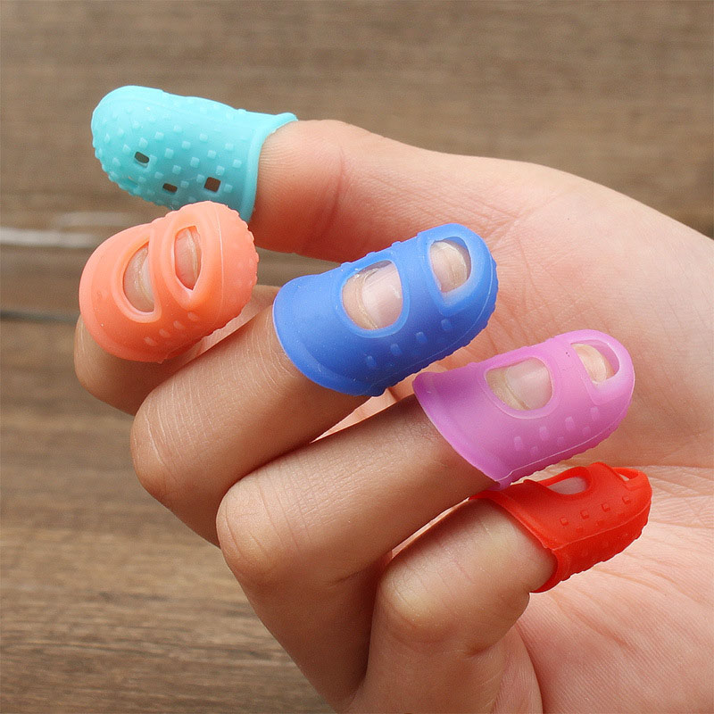 5pcs/Lot Multifunctional Silicone Thimbles Hollowed Out Breathable Protective Finger Sleeve DIY Crafts Sewing Accessories