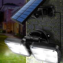Solar-Lights Wide-Lighting Adjustable-Head IP65 Outdoor Waterproof 20w 120led with Angle