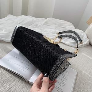 Image 5 - Petite chaîne simple grande capacité sac fourre tout 2019 nouvelle version coréenne de la mode épaule sauvage en bandoulière