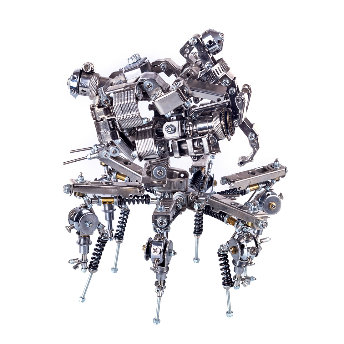 DIY Metal Mechanical Explorer 3D Assembly Puzzle Model <font><b>Kit</b></font> For Home Decor image