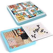 Chess-Toys Checker Flying-Chess Children's Desktop-Games Animal Party Five-In-A-Row Multi-Function