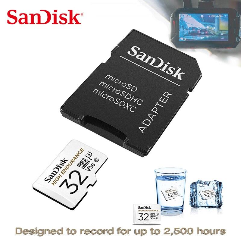 SanDisk High Endurance Memory Card 256gb 128gb 64gb MicroSDXC Cartao De Memoria MicroSD 32gb  C10 V30 U3 4K Worry-free Recording