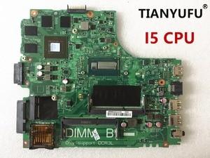 Image 1 - 12307 2 لأجهزة الكمبيوتر المحمول dell Inspiron 3437 5437 اللوحة الأم DOE40 HSW GDDR5 12307 2 DDR3L مع i5 CPU اللوحة الأم اختبار 100% العمل
