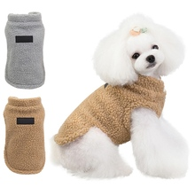 Pet Dog Clothes Plush Warm Coat Jacket Cute Clothes For Cold Weather Pets Clothing Pug Cotton Ropa Perro French Bulldog Dogs super cute cat style warm plush gloves for cold weather black pair