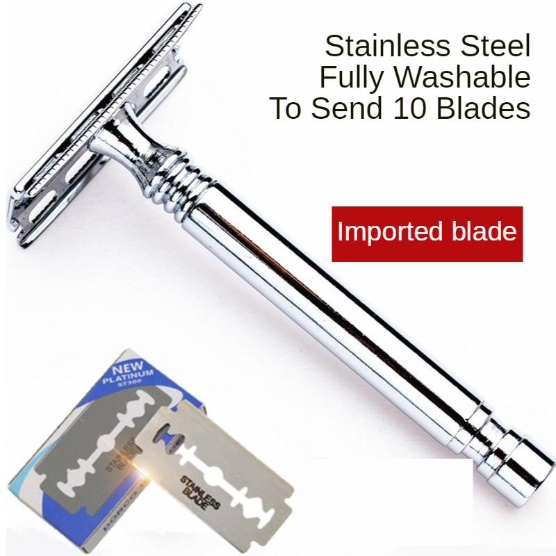 Safety Double Edge Razor For Men Barber Straight Razor Men's Shaving Face Razor Blades Shaving Machine G0304