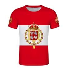 Polish-Lithuanian Commonwealth Flag T-shirt free custom name number Poland Flags T-shirt print logo Polish red white clothing