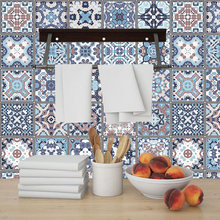 Португалия марокканская синяя плитка наклейка на стену домашний