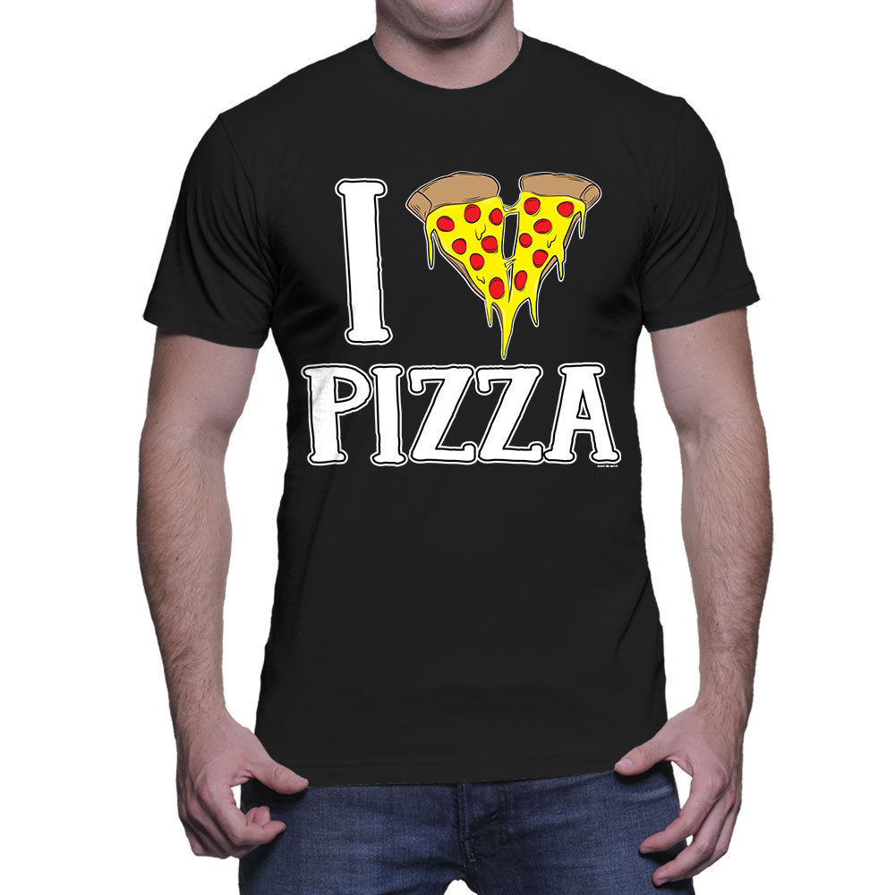 I Love Pizza - Heart Italian Cheese Pie Food Sauce Mens T-Shirt free shipping cheap tee Fashion Style Men Tee NEW ARRIVAL tees image