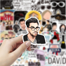 TD ZW 50pcs/Lot TV Show Schitt's Creek Stickers Pvc Waterproof Car Bicycle Laptop Luggage Skateboard Stickers and Decals Toy