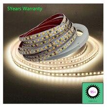 Yüksek CRI 95 LED şeritler ışıkları 12V 24V beyaz soğuk beyaz sıcak beyaz doğal beyaz CCT LED şerit 5m 600LED