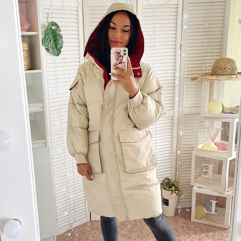 Women winter long parkas 2020 Casual thicken warm hooded parkas coat colorful female outwear winter coat plus size S-3XL(China)
