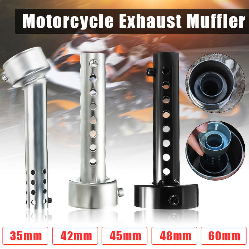 Motorfiets Kan Db Killer Silencer Noise Sound Eliminator Uitlaat Verstelbare Muffler Silencer 35Mm/42Mm/45Mm/48Mm/60Mm