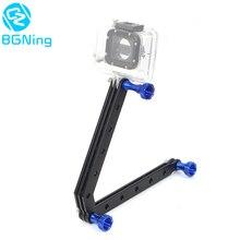 CNC casco Selfie extensión de varilla brazo con tornillos para Gopro Hero 9 8 7 6 5 Session 4 3 Yi SJcam EKEN cámaras de acción deportiva