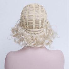 купить WTB Wigs for Women Short Wigs for Black Women Blonde Wig Synthetic Wig 613. Wigs Wavy High Temperature Fiber Short Wigs 8 дешево