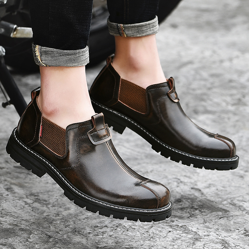 Cheap Genuine Leather Men Casual Shoes Luxury Brand Mens Loafers  Spring Autumn Breathable Slip on Business Casual Shoes Men Shoes