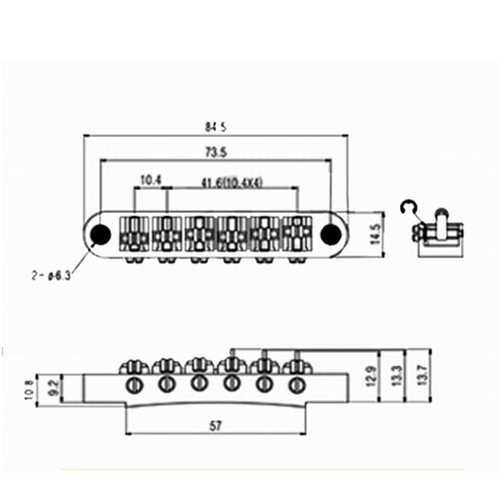 Set Chrome Bridge /& Lock Tail Piece für Les Paul SG Guitar Part