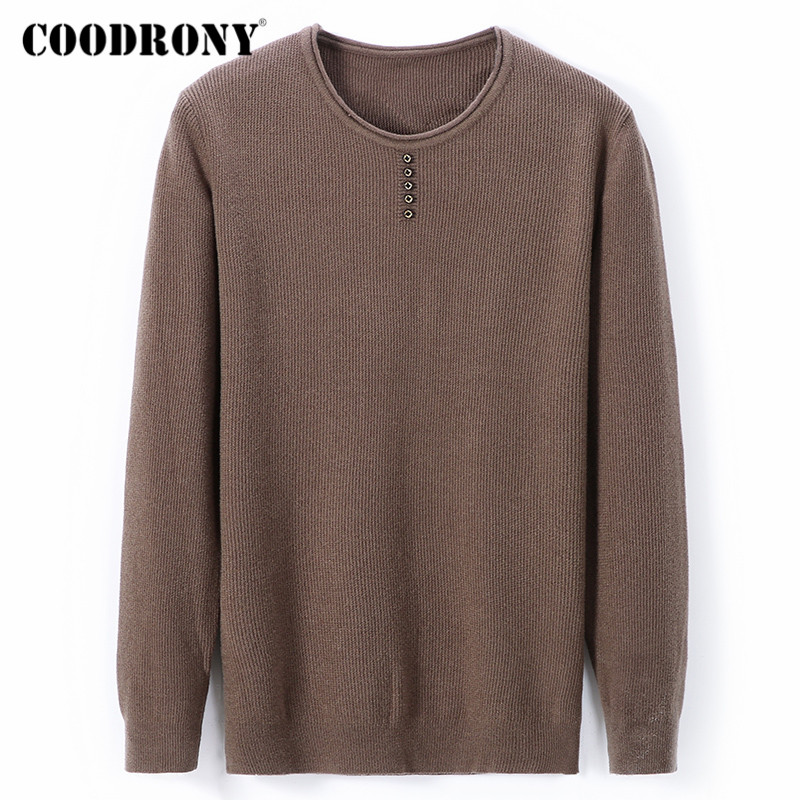 COODRONY Brand Sweater Men Casual Button Knitwear Pull Homme Autumn Winter Warm Sweaters Cotton Pullover Men Jersey Hombre C1023