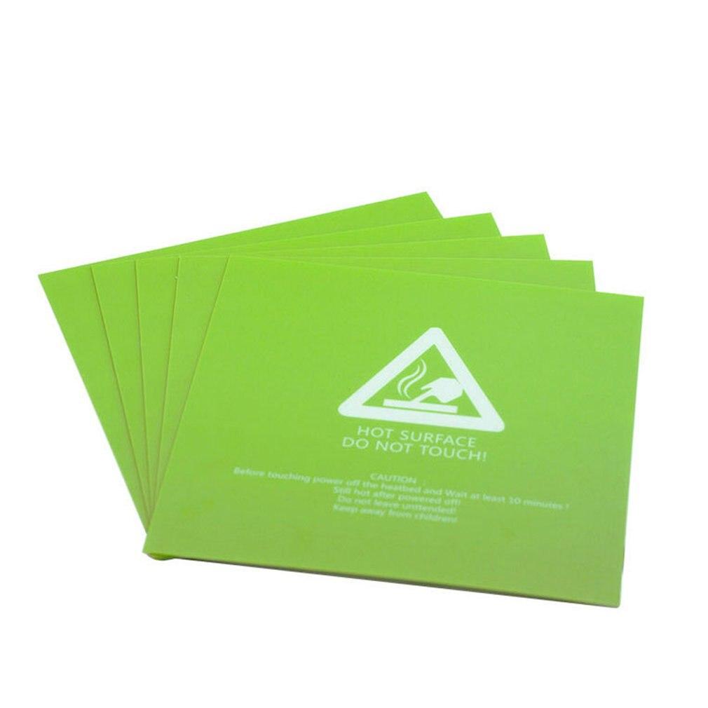 Cama verde calefactada cuadrada Frosted superficie de cama caliente pegatina PLA ABS caderas PETG filamento TPE 3D impresora piezas tamaño 300*300*0,5mm
