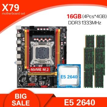 Kllisre X79 chipset motherboard combo kit set Xeon E5 2640 LGA 2011 4Pcs x 4GB= 16GB 1333 DDR3 ECC REG memory 1