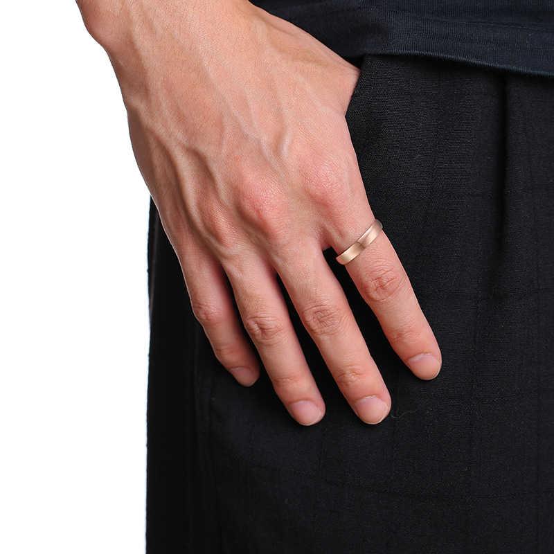 ผู้หญิงผู้ชายฟรีปรับแต่งแกะสลักชื่อครบรอบวันที่งานแต่งงานวงแหวนสำหรับของเขาและเธอสัญญา Love เครื่องประดับที่กำหนดเอง