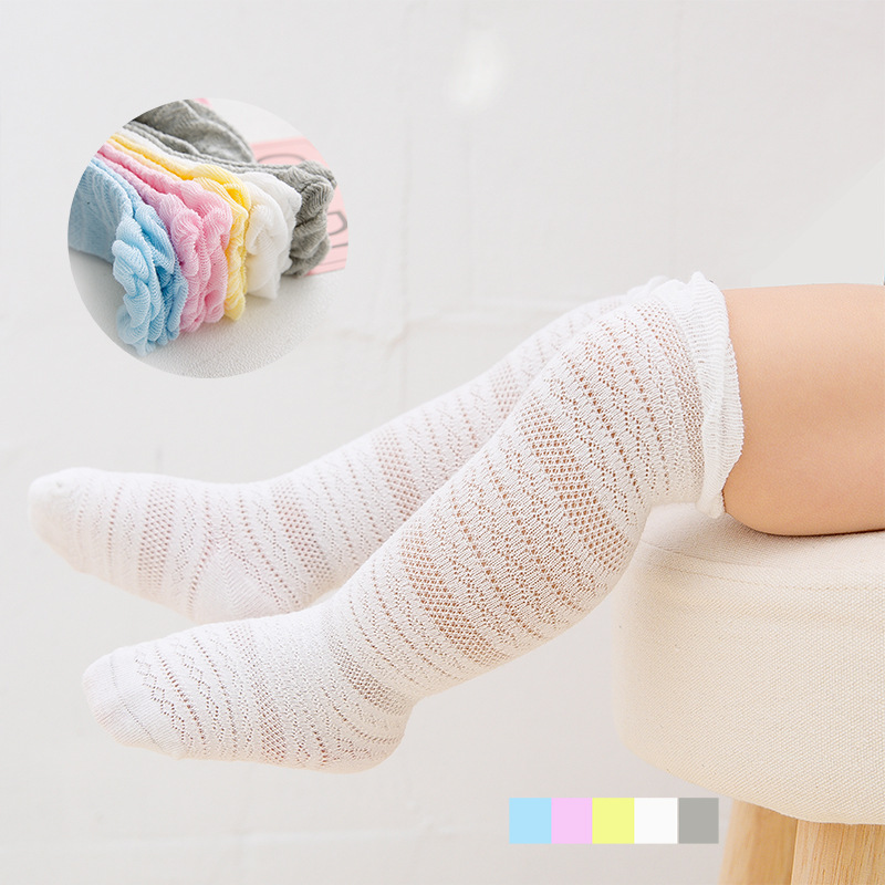 New Style Summer Thin Section Children Stockings Baby Socks Cotton 0-1-Year-Old Baby Cotton Over-the-Knee Boots  1-3 Years Old
