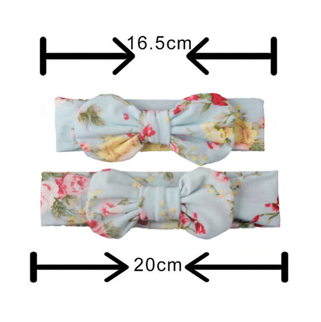 2PCS Mama & Baby Bowknot HeadBands 5