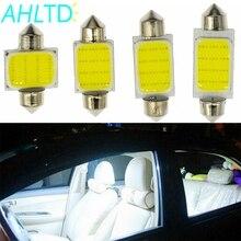 2Pcs 12SMD White Cob Festoon Dome Lights Reading Lamp 31mm 36mm 39mm 42mm 3w Car Led  Interior Bulbs DC 12v