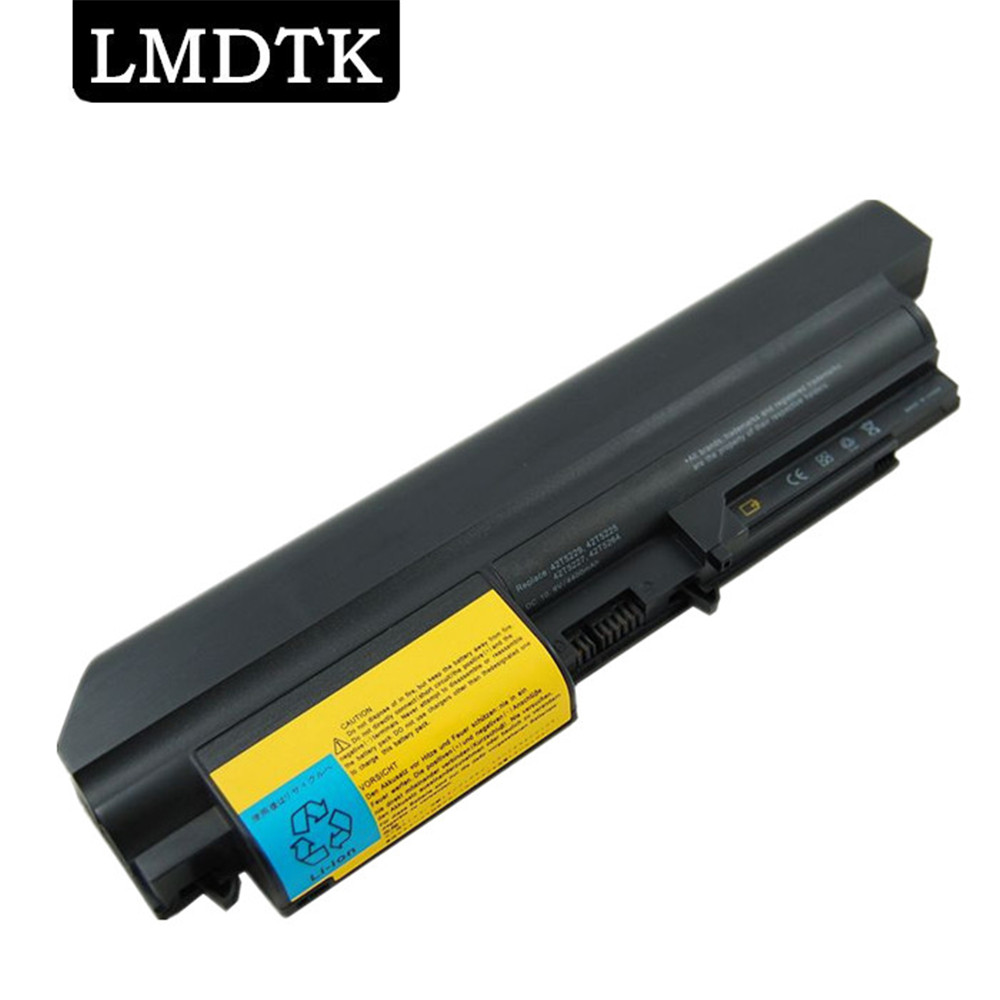 Lmdtk novo 6 células bateria do portátil para lenovo thinkpad r61 t61 r61i r61e r400 t400 series (14 polegadas de largura) frete grátis