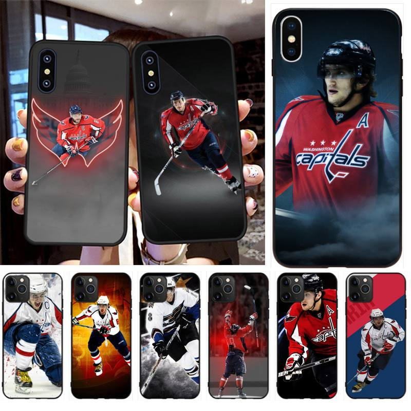 HPCHCJHM Alexander Ovechkin Nhl Star Hockey Soft Phone Case Cover for iPhone 11 pro XS MAX 8 7 6 6S Plus X 5S SE 2020 XR case(China)