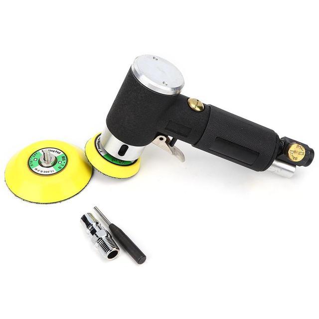Mini Luft Winkel Sander 90 Grad Pneumatische Polieren Schleifen Maschine + 2 zoll 3 zoll Schleifen Pad 16000rpm Luft winkel Polierer
