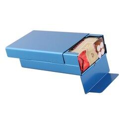 Tytoń papierośnica przenośny aluminiowy pojemnik pojemnik na tytoń przesuwny pokrowiec kieszonkowy Ciggarette Box na akcesoria do palenia